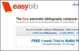 EasyBib  Bibliography Made Easy     Technology for Academics