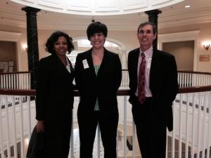 Photo   Tonya Baroudi LLAM President. Emily Feltren AALL Director Govt Relations, Steve Anderson AALL President
